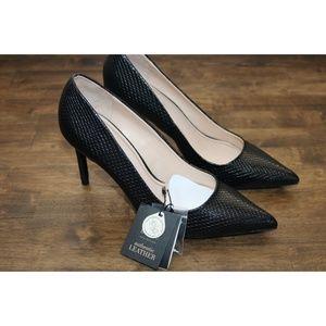 NWT Zara Leather High Heels size 9 Eur 40